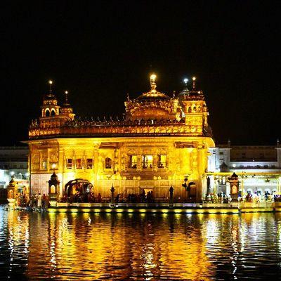 The Goldentemple at Amritsar in night light... Waheguru