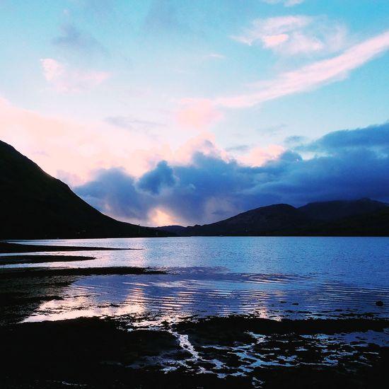 Landscape Sunset Water No People Reflection Cloud - Sky Wildatlanticway Ireland Garden Beauty In Nature Mountain