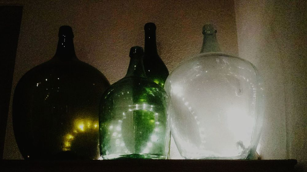 Light In The Darkness Shadowplay Schattenspiel  Licht Und Schatten Light And Shadow Special Effects Collection Wine Bottles Weinflaschen Alte Flaschen Old Wine Bottle Old Stuff Green Bottles Green Color Old Bottles Bottles Collection Vintage Human Meets Technology