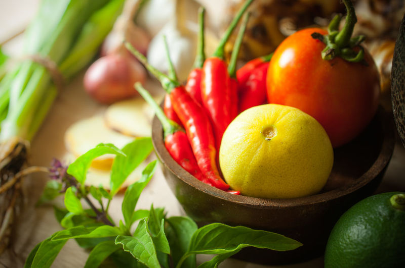 Asian Culture Asian Food Chili  Close-up Food Freshness Fruit Green Green Color Healthy Eating Healthy Lifestyle Herb Lemon Mixed Mixed Vegetables No People Outdoors Red Tomyum Vegetable Yummy