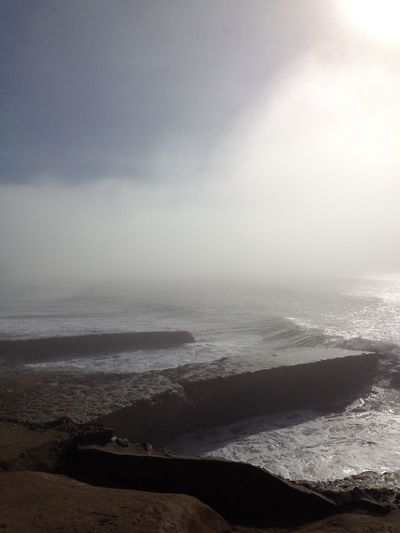 Blurred Motion Cove Fog Foggy Geology Motion Mystery Ocean Physical Geography Power In Nature Rough Sea Sky Splashing Spraying Steam Sunrise Weather Wet