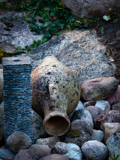 Animal Animal Themes Close-up Day High Angle View Land Nature No People Outdoors Representation Rock Rock - Object Sculpture Solid Statue Stone Stone - Object Textured  Water