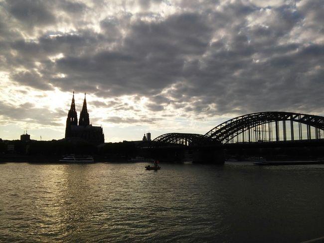 Sunset over Cologne Cologne Köln Rhein Sunset Dom Hohenzollernbrücke Rheinboulevard