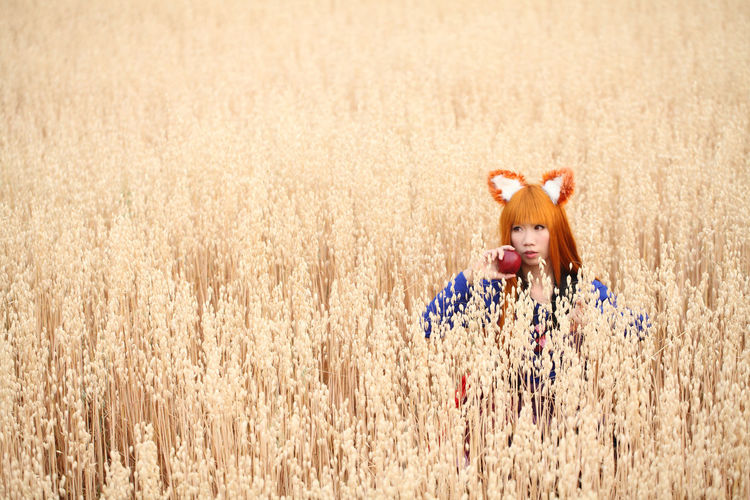 Cosplay Cosplayer Cosplaygirl Agriculture Crop  Rural Scene Landscape Plant Cereal Plant Nature Land Field Farm No People Fun Domestic Animals Day Domestic