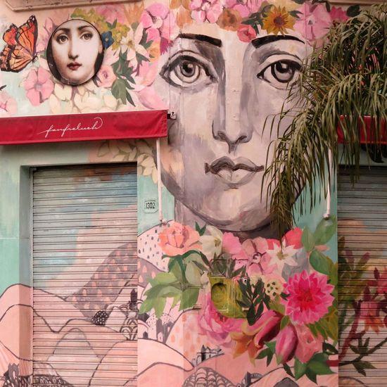 Art Art And Craft Belgrano Creativity Day Flower Graffiti Human Representation Multi Colored Streetart