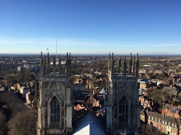 High Angle View Of York Minster And Residential District Against Sky
