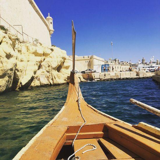 Little boat taxi to the 3 cities Valletta,Malta
