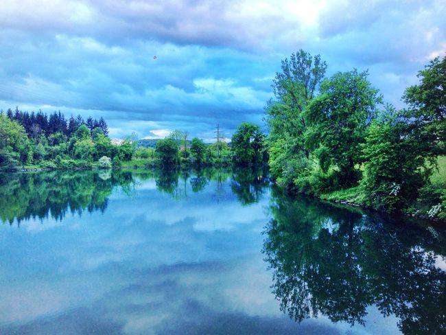Landscape Nature Water Reflections Clouds And Sky