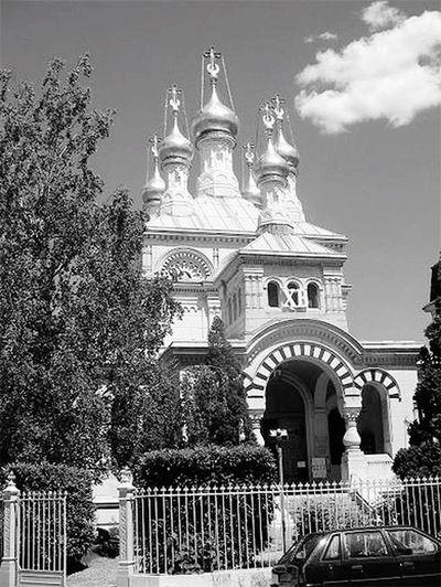 Genève visite de la vielle ville, ancienne cathédrale Russe en noir et blanc Grandiose De Toute Beauté!