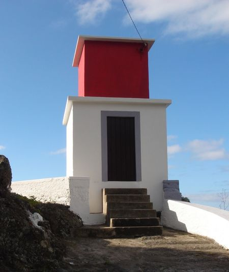 Red and White look out point at Rebeira Brava Madeira Madeira Island Madeira Island Portugal Rebeira Brava, Madeira Architecture Beach Blue Blue Sky Building Exterior Built Structure Cloud - Sky Day Interesting Building Look Out Nature No People Outdoors Red And White Red And White Buildings Sky Sunlight Colour Your Horizn