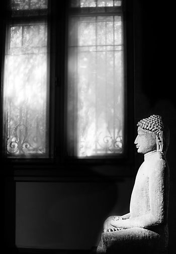 Paris Museum Of Art Black And White Black And White Sculpture Window Human Representation Indoors  Statue Art And Craft Figurine