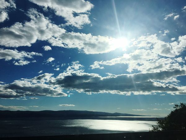 Sunbeam Scenics Water Sun Sunlight Beauty In Nature Sky Bright Nature Cloud - Sky Non-urban Scene Reflection Sunny Day Summer Outdoors Blue Croatia Croatiafulloflife Adriatic Sea Brela  Makarskariviera Tranquil Scene Sea Sea And Sky 2016.