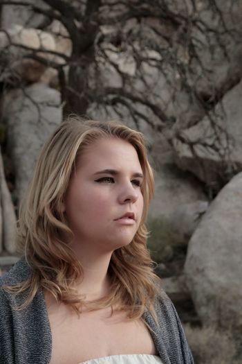 One Person Long Hair Portrait Beauty Blond Hair Young Adult Headshot Close-up Outdoors Desert Joshua Tree National Park Blonde Sundress Nature Sand Rock - Object Desert
