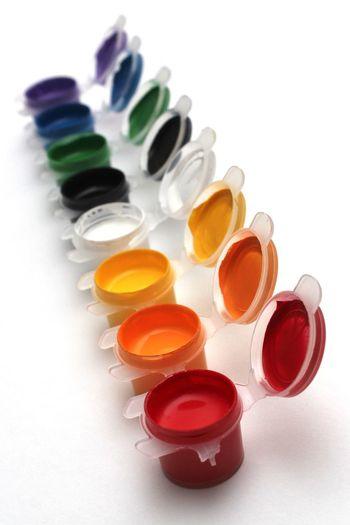 Finger Painting Paint Colors