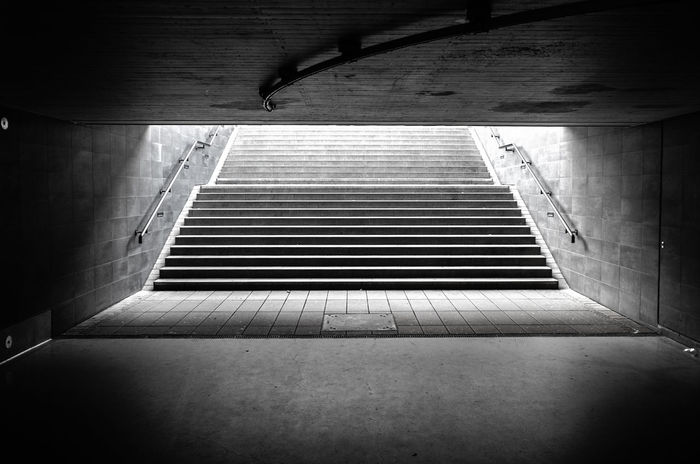 Stairs Light Stairs Wiesbaden Blacandwhite Day Focus No People Shadow Sichtmanufaktur Train Station