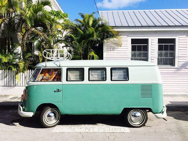 Turquoise VW T1 in Key West, Florida 🌴 Key West VW T1 Florida Cars Paradise First Eyeem Photo