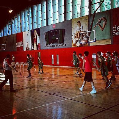 Triangular del Canal de Isabel II, @lossantosbasket en acción again! Lossantosbasket Sabadoalas10 Todos Igerssports igersbasket
