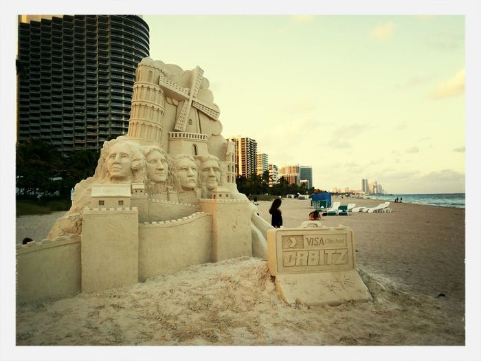 Sandsculpture Beachphotography miami Relaxing Check This Out First Eyeem Photo
