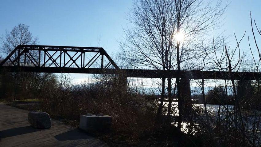 Things I Like Taking Long Walks Waterford Ontario Black Bridge Shadow Lake Trail Taking Photos. . Taking Pictures Of Nature Blue Skys Walking Around Taking Pictures
