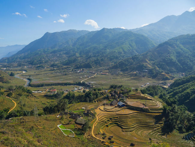 Rice terraces in Sapa Vietnam shot from a viewpoint way above Rice Terrace Stairways Vietnamphotography Landscape_photography Landscape_Collection Mountain Range Rural Scene Sapa, Vietnam Sky Tranquil Scene Vietnam Rice Terrace Ricefields RiceTerraces Lost In The Landscape