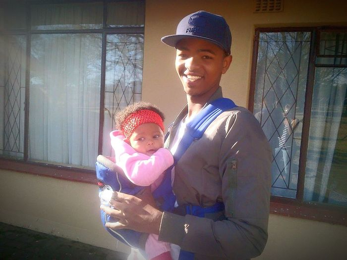 Brother with his daughter Family❤ Young Father With Babygirl In A Sling Bonding
