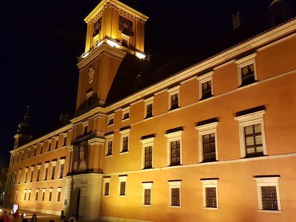 Castle, City,Warszawa Politics And Government City Illuminated Cityscape Window Sunset Façade Architecture