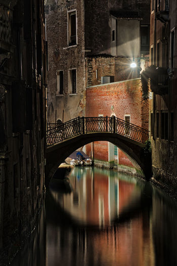 Venezia Venice, Italy Architecture Bridge - Man Made Structure Building Exterior Built Structure Canal City Connection Illuminated Night No People Outdoors Venice Water
