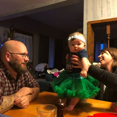Our newest Granddaughter. Christmas dinner with our family. Pure Joy. Pure No Filters Or Edits Granddaughter Art Christmas Dinner Young Parents Night Time My Time Pure Happiness! Standing Strong! Babygirl Celebration Table Indoors  Real People Food And Drink Two People Togetherness