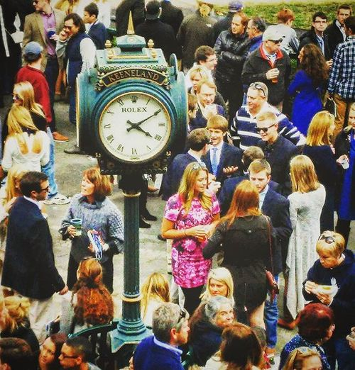 Keeping Time at Keeneland with the Rolex Clock photo by @thebrookebingham Selfie Fall Thoroughbredracing Horserace Selfies Autumn Lexington Kentucky  Thoroughbredhorse Lex