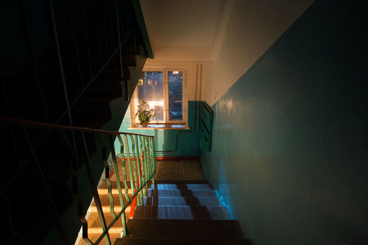 Alone Dark Entrance Entrance Gate Home Moscow Room Russia Saint Petersburg Architecture Danger Flower Home Interior Illuminated Indoors  Night No People Petersburg Staircase Steps Steps And Staircases