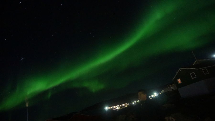 The Real Greenland Ilulissat This Is Greenland Aurora Northern Lights Nature Aurora Borealis EyeEm Best Shots EyeEm Best Shots - Nature Night Illuminated Sky Green Color Outdoors