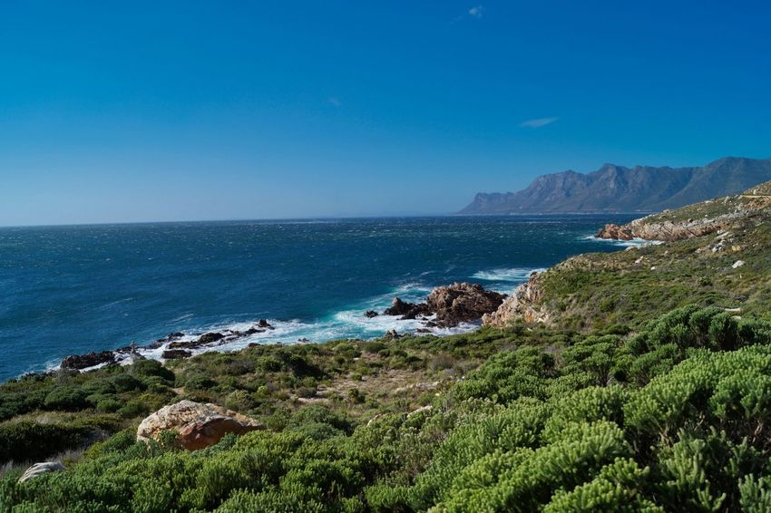 Sea Beach Water Horizon Over Water Scenics Nature Landscape Beauty In Nature Outdoors No People Clear Sky Travel Destinations Vacations Sand Cliff Sky Wave Day Cape Town, South Africa Cape Town False Bay