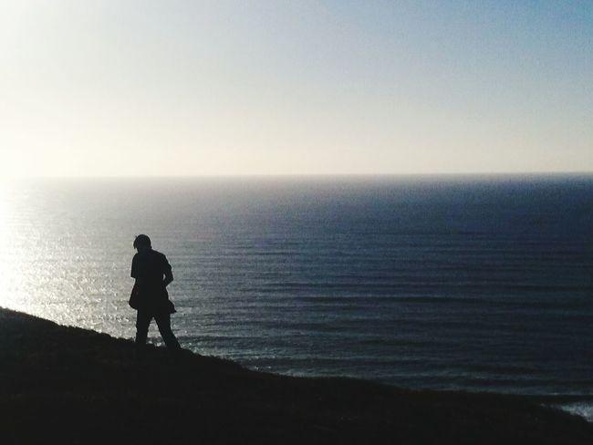 One Person Sea Beauty In Nature Sky Horizon Over Water Beach Day Nature Baja California