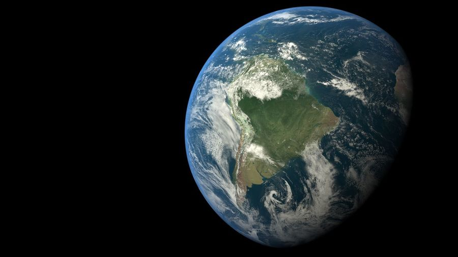 Hello World Globe Earth From Space Space Planet Earth Planet Detail High Resolution Sattelite Clouds Earth From Above Continents America South America Brazil Rio De Janeiro