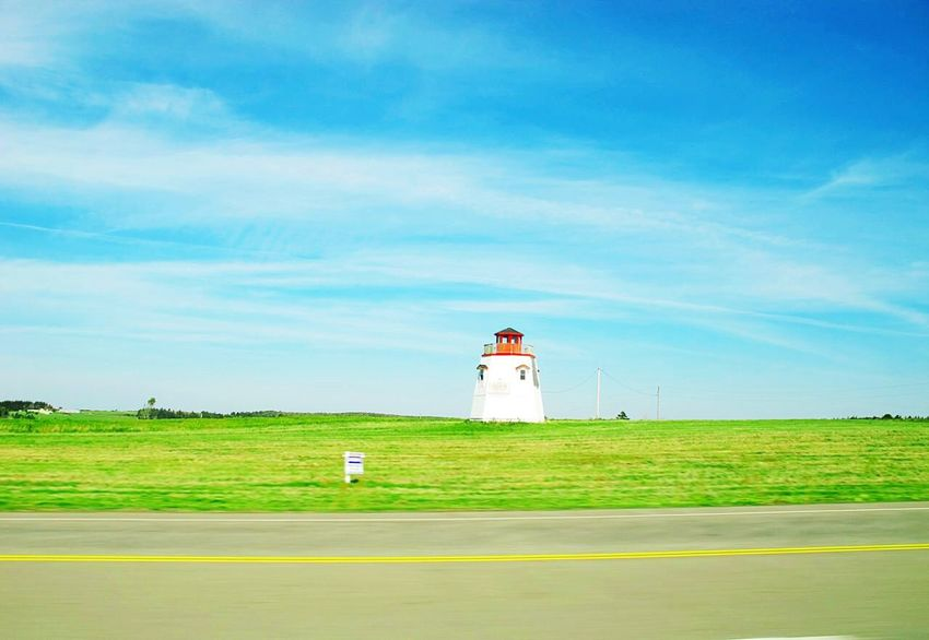 A Country View A Country Side Storage A Granary Prince Edward Island Pei Travel Photography Green Fields Blue Sky