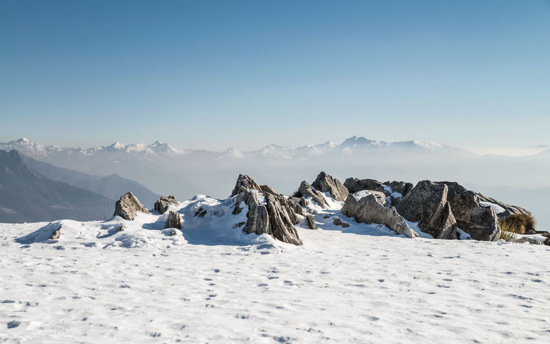 Snow Plateau in the Swiss Alps Plateau Sky Beauty In Nature Mountain Scenics - Nature Tranquil Scene Winter Tranquility Snow Cold Temperature Environment No People Snowcapped Mountain Mountain Peak Clear Sky Mountain Range Landscape Nature Panorama Day Horizon Over Land