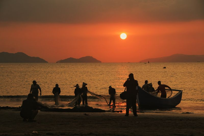 Photography Sunset Aceh Fishing Fish Fisherman INDONESIA Aceh Culture