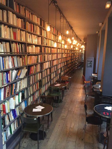 Paris Paris, France  Book Books Book Cafe Cafe Interior Design Interior 파리 프랑스 책 카페 북카페 인테리어 인테리어 디자인