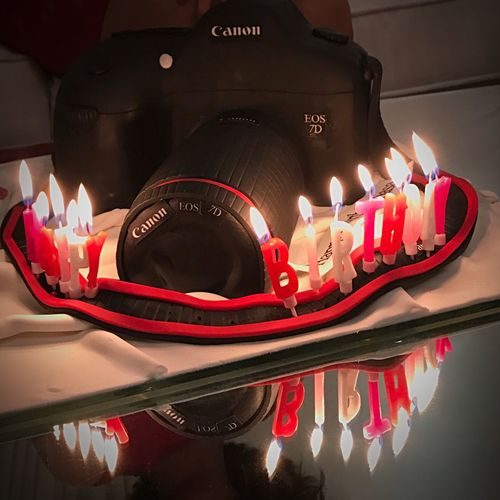 Candle Birthday Candles Birthday Cake Sweet Food Birthday Celebration Cake Table Indoors  Food And Drink Indulgence No People Burning Flame Dessert Illuminated Red Close-up Freshness Canon Canon 70d Canonphotography Canon Cake Canon_official