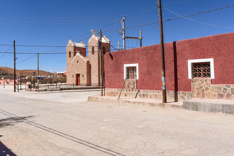 Church in San Antonio de Los Cobres (Argentina) Argentina Arid Arid Climate Catholic Church Cross Dirt Dry Puna Road Salta  San Antonio San Antonio De Los Cobres Street Village