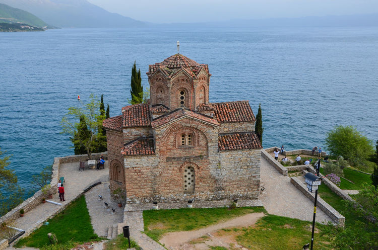 Architecture Beauty In Nature Building Exterior Built Structure Day High Angle View History Horizon Over Water Lake Lake Ohrid Macedonia Nature Ohrid Ohrid Lake Outdoors Place Of Worship Religion Sky Spirituality Travel Destinations Water