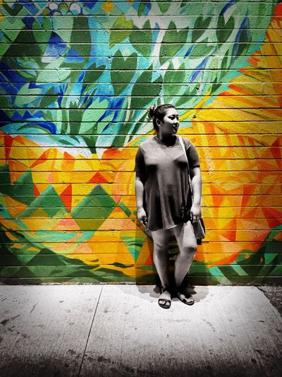 EyeEm Best Edits Art And Craft Mural Art Creativity Casual Clothing Street Art Quickedit PhonePhotography Photoofthenight Brick Wall
