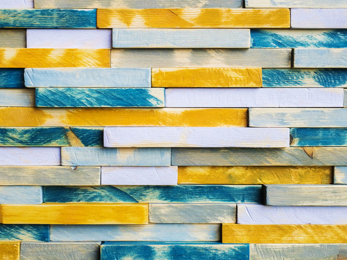 Multicolored wood plank background