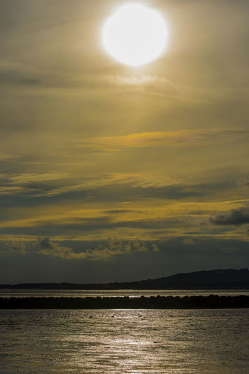 Water Sun Scenics Tranquil Scene Sea Horizon Over Water Beauty In Nature Tranquility Sunset Sky Waterfront Idyllic Nature Reflection Cloud - Sky Calm Cloud Majestic Seascape Ocean