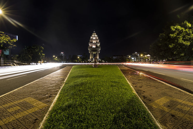 Cambodia Monuments Night City Night Lights Phnom Penh Travel Independence Monument Streetphotography