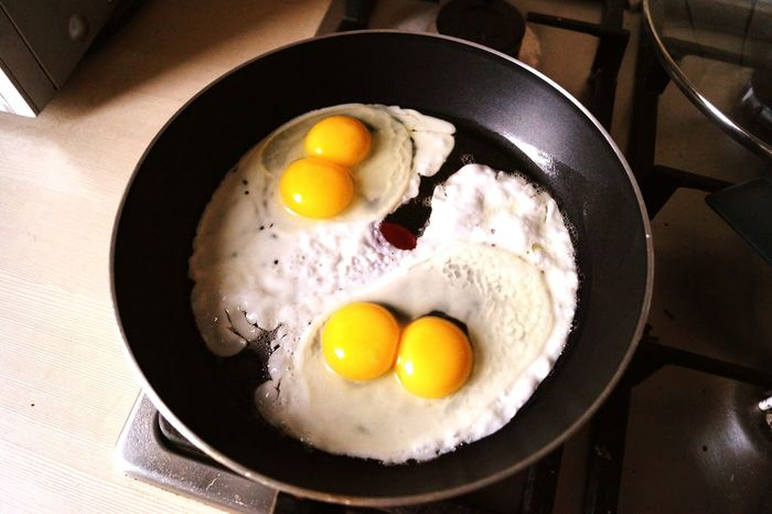I am lucky one! Lucky Egg Double Yolk Good Morning Breakfast