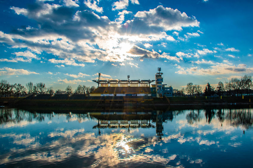 Reflection Sky Cloud - Sky Water Architecture Built Structure Building Exterior Waterfront Nature Lake Sunset No People City Travel Destinations Building Outdoors Scenics - Nature Tranquility Standing Water Zagreb Eye4photography  Best EyeEm Shot EyeEm Nature Lover