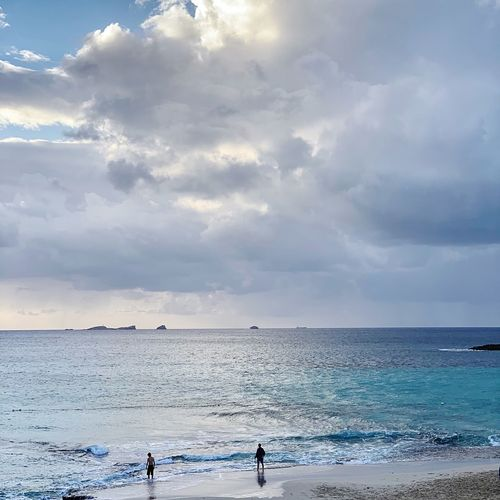 Ibiza Water Sea Sky Cloud - Sky Horizon Over Water Beauty In Nature Land Beach Scenics - Nature Horizon Group Of People Nature Holiday Vacations Day Tranquility Trip Leisure Activity Real People Outdoors