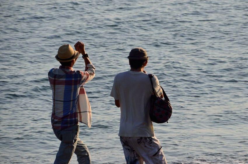 43 Golden Moments Golden Sunset Happiness Friends Sea Seaside Enoshima Kamakura Shounan Inamuragasaki 江の島 鎌倉 稲村ヶ崎 湘南 Nikon Nikon D5100