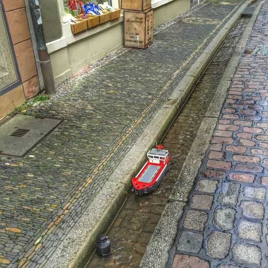 Bigship Bächle Day Exploring High Angle View Miniature Mode Of Transport No People Parking Toy